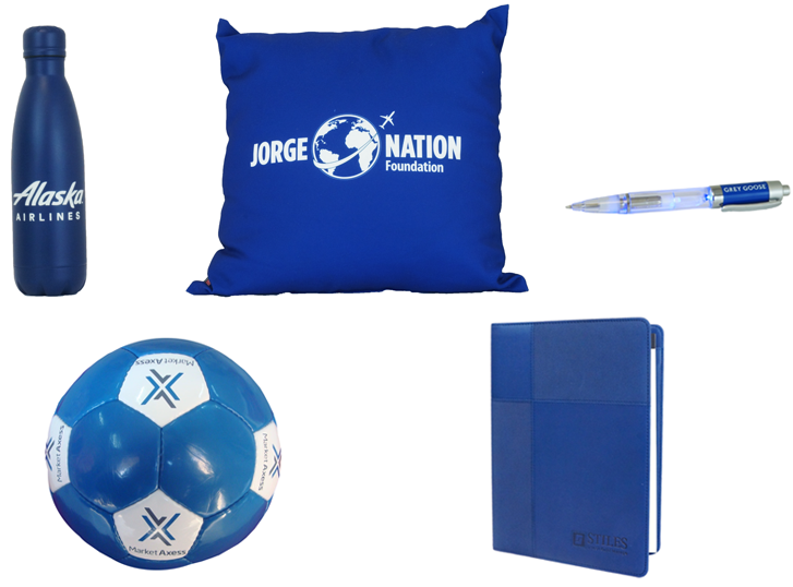 Blue Custom Promotional Products