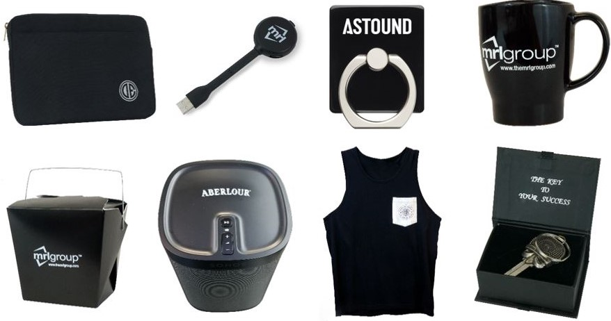 Custom Black and White Promotional Products