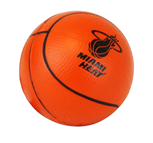 Orange Basketball Stress Ball