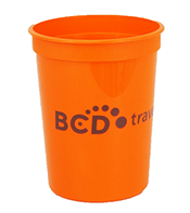 Custom Orange Plastic Cup