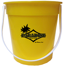 Custom Yellow Drink Bucket
