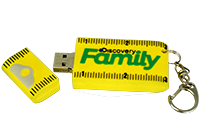 Custom Yellow USB Key Chain